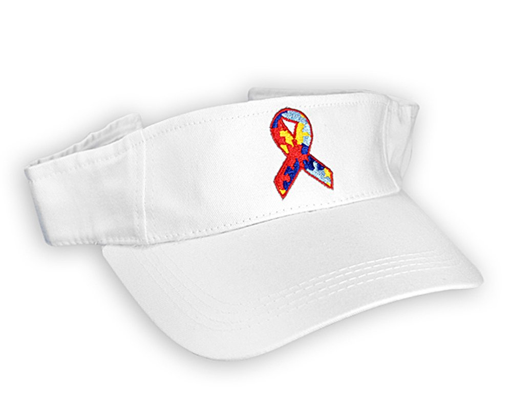 Fundraising For A Cause Autism Ribbon Visors (Wholesale Pack - 12 Visors) Pink