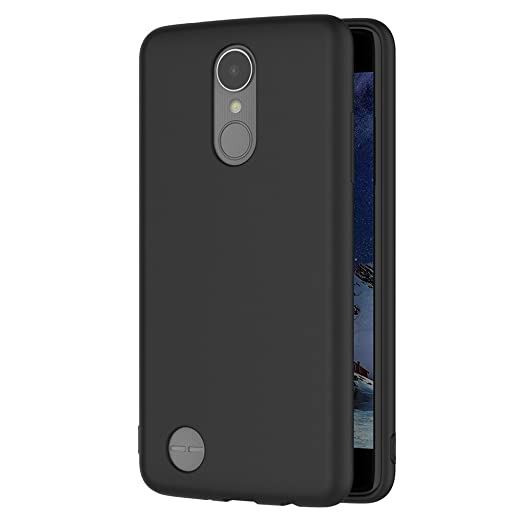 4 opinioni per Cover per LG K8 2017, AICEK Cover LG K8 2017 Nero Silicone Case Molle di TPU
