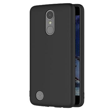 AICEK Funda LG K8 2017, Negro Silicona Fundas para LG K8 2017 Carcasa LG K8 2017 Negro Silicona Funda Case