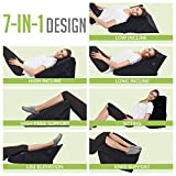 Bed Wedge Pillow - Adjustable 9&12 Inch Folding