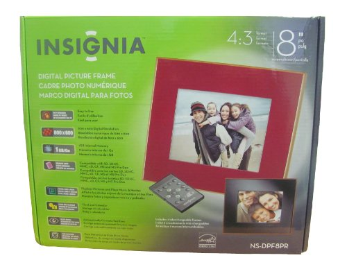 Insignia Digital Picture Frame 8 inch 1GB (Picture 8 Insignia Digital Frame)
