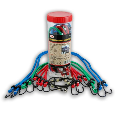 Bungees In a Can - 12 Piece Bungee Cord Set - 4 Sizes by iit (Image #1)