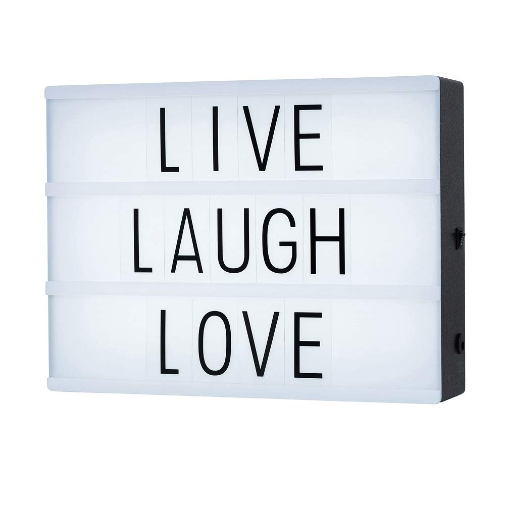 Cinematic Light Box with 85 Letters,A4 Size Free Combination Cinema Light Box DIY LED Letter Lamp for Home Decor, Photoshoots, Birthday Party,Christmas Gift(Extra 85 Emoji Signs) SUOMEI