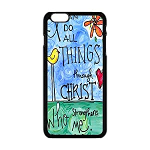 I Can Do All Things Through Christ Who Strengthens Me Black Phone Case for iPhone 6plus