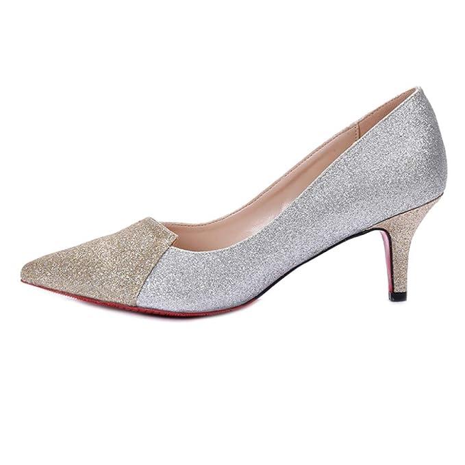 219b35fc RegbKing Zapatos De Boda Para Mujer Tacones Altos Costura Nupcial Zapatos  De Tacón Alto Zapatos Puntiagudos Vestido Bloque De Noche Bombas Tacones  Zapatos ...