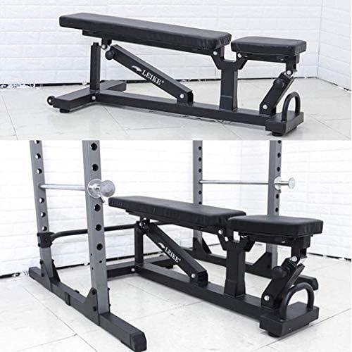 USTHOY アジャスタブルベンチ体重、ボディワークアウトフィットネス腹部ベンチシットアップ腹部、腰の訓練インクライン/トレーニングのための折りたたみ重量ベンチプレス (Color : Black, Size : 130x57x43.5cm)