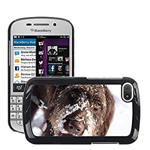 Super Stella Slim PC Hard Case Cover Skin Armor Shell Protection // M00144874 Dog Pet Animal Snow Cute Canine // BlackBerry Q10