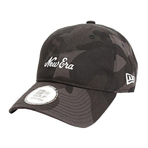(ニューエラ) NEW ERA ゴルフ キャップ 9THIRTY オンパー ウッドランドカモブラック オールドロゴ マイクロエラ ブラック カモフラ 迷彩柄 GOLF FREE (サイズ調整可能)