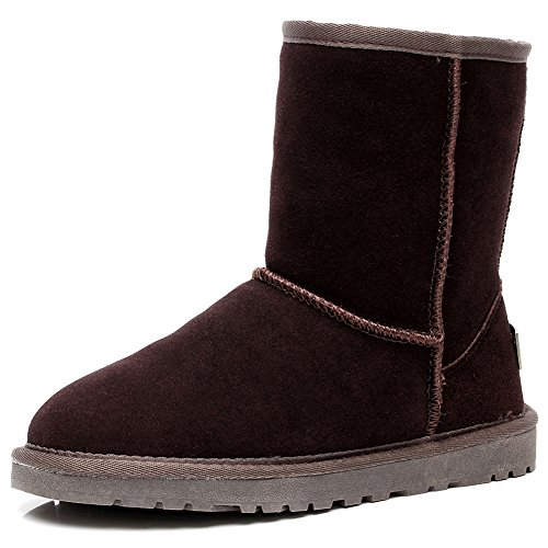 Calf rismart Suede Coffee Snow Lined Fur Faux Colors Women Boots Mid Available US10 SN1025 Classic Many qarwxn0Uat