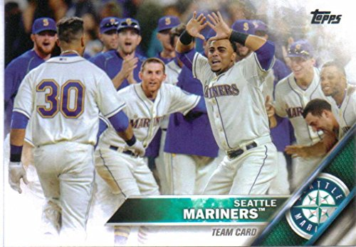 Seattle Mariners 2016 Topps MLB Baseball Regular Issue Complete Mint 22 Card Team Set with Felix Hernandez, Robinson Cano Plus