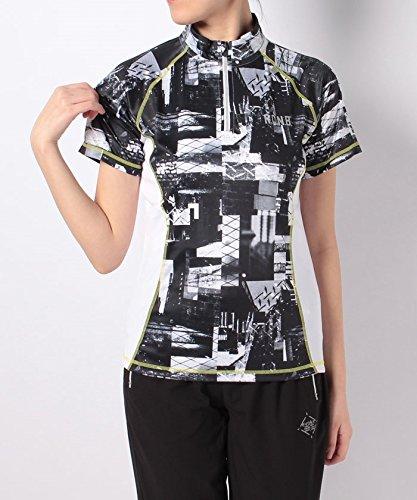 アーティファクト正午ベット(ナンバー) Number レディースRUNフォトプリハーフジップTシャツ