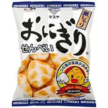Masuya Japan onigiri rice crackers Salt 95g x 12 bags by Masuya