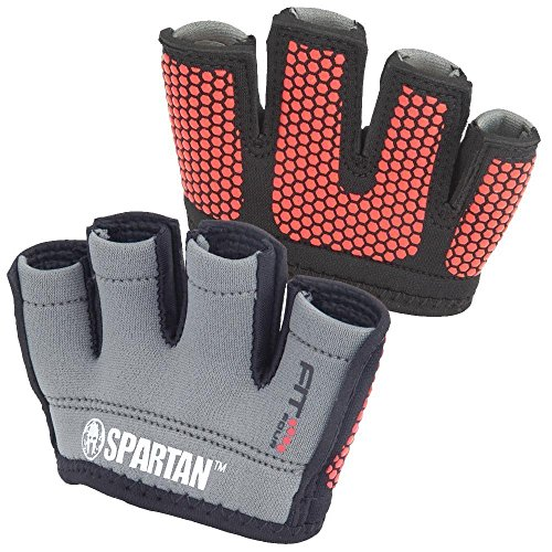 Fit Four Spartan Race OCR Neo Grip Gloves Obstacle Course Racing & Mud Run Hand Protection (Gray, Small)