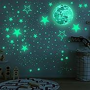 TOYANDONA Adesivos de parede com estrelas que brilham no escuro para decoração de teto de parede para quarto d