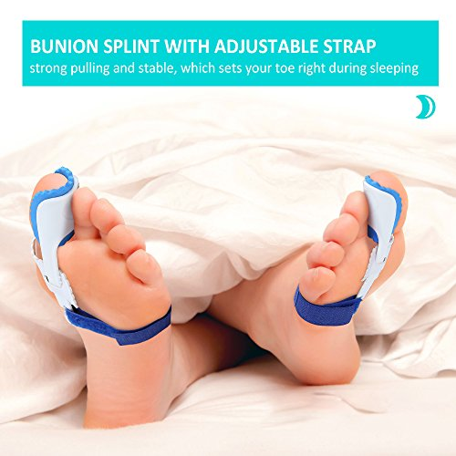 Bunion Corrector Splint Relief Kit - Orthopedic Bunion Pads Toe Separators Spacers Straighteners for Tailors Bunion Hallux Valgus Big Joint Hammer Toe Women and Men (4 Pairs) by INCOK (Image #2)