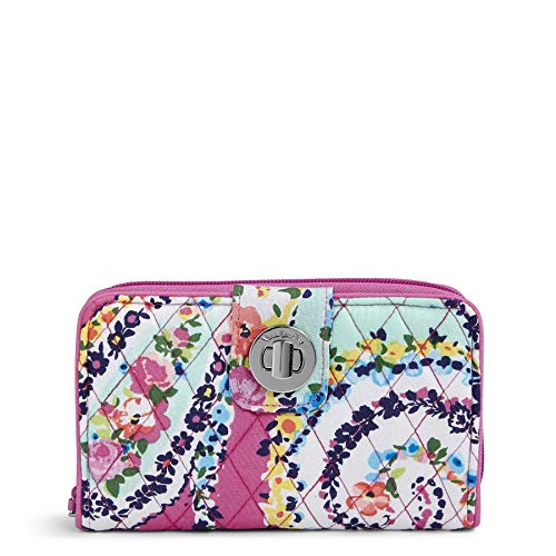 Vera Bradley RFID Turnlock Wallet, Signature Cotton, Wildflower Paisley