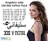 Angelina Jolie sm set Temporary Tattoo