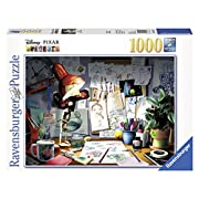 Amazon Lightning Deal 93% claimed: Ravensburger Disney Pixar: The Artist's Desk Puzzle (1000 Piece)