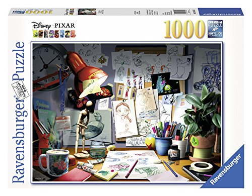 Ravensburger Disney Pixar: The Artist's Desk Puzzle (1000 - Jigsaw Puzzles 1000 Piece Disney