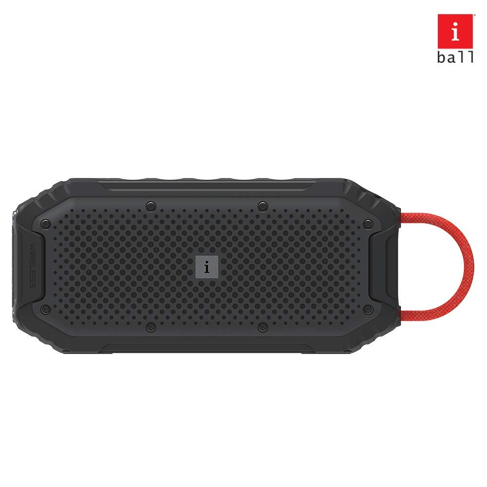 iBall Musi Rock – Portable Outdoor Speaker with IPX6 Water Resistant & Built in Power Bank (Black)