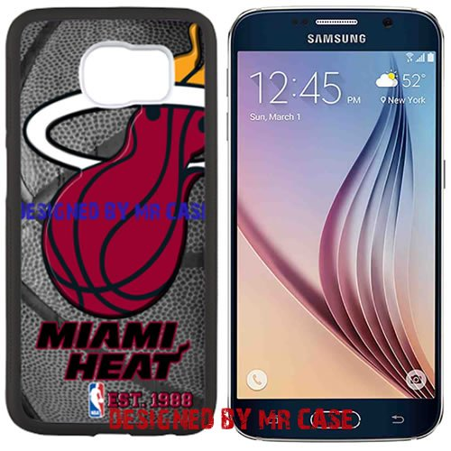 (Heat Miamii Basketball Black Samsung Galaxy S6 Edge Case by Mr Case)