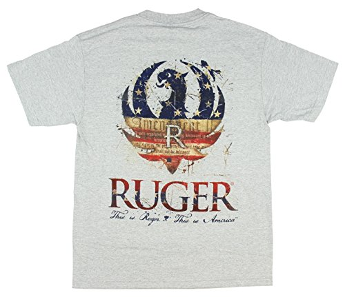 Sturm Ruger (Special Edition Ruger American Adult T-shirt, print front and back-Medium)