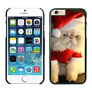 Recommend Design Christmas Wearing White Fur Lovely Cat Iphone 6 Cover Case For Iphone 6 4.7 Inch