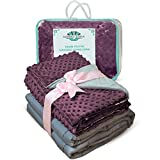 #8: Weighted Blanket Adult Size-For Heavy Stress Relief, Autism, Restless Leg Syndrome & natural calm for anxiety - Plum 48x72