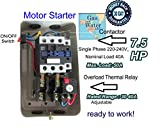 New Magnetic Motor Starter Control for electric motor 7.5hp 1ph 230V 40 amp