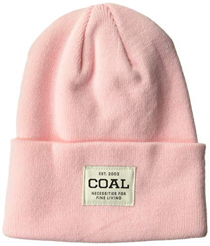 (Coal Men's The Uniform Fine Knit Workwear Cuffed Beanie Hat, Pink, One Size)