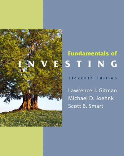 Fundamentals of Investing (11th Edition) by Prentice Hall