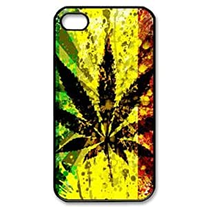 Saot Tal Custom Your Own Personalised Marijuana Leaf Cannabis Weed Rasta iPhone 4/4S Best Durable Case Cover