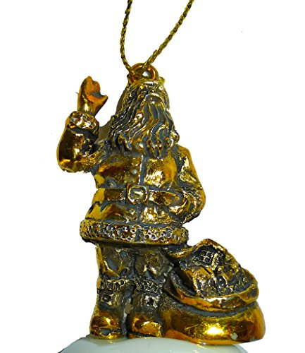 Spode Christmas Tree 2014 Annual Santa Claus Bell Ornament by Spode (Image #1)