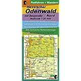 Radfahren + Wandern - Hessischer Odenwald mit Bergstraße - Nord: Maßstab 1:30.000 Alle markierten Rundwanderwege Lehrpfade und Themenwanderwege ... Der Nibelungensteig im Odenwald 3. Auflage