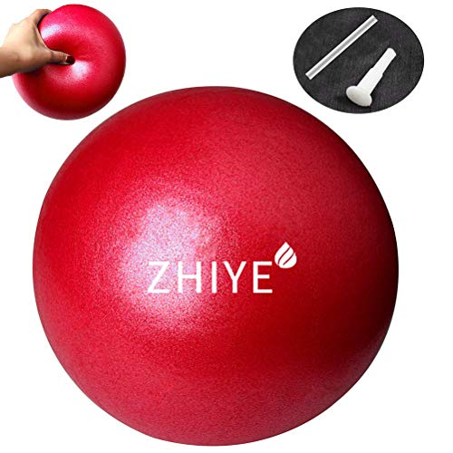 Zhiye Mini Pilates Ball Yoga Small Exercise Core Fitness Bender, Red
