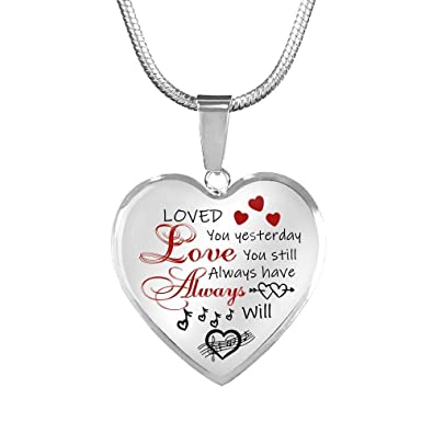 To My Girlfriend Heart Pendant