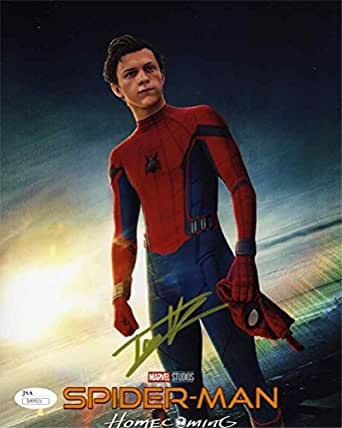 Tom Holland Spiderman Homecoming Signed 8x10 Photo Certified Authentic JSA COA