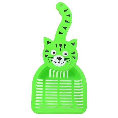 Wuraxy Pala de Arena para Gatos Pala de Arena para Gatos Grandes Pala de Limpieza Mango