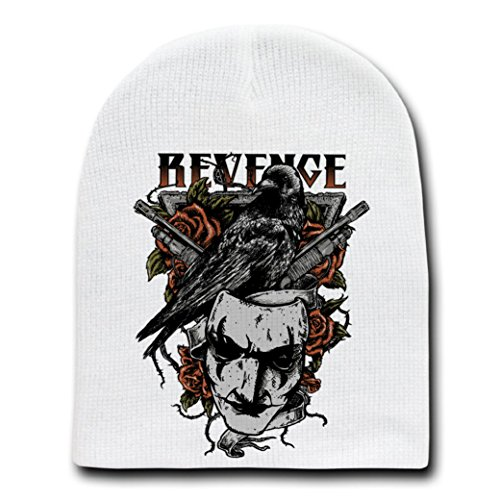 Revenge Classic Movie Parody - White Adult Beanie Skull Cap Hat ()