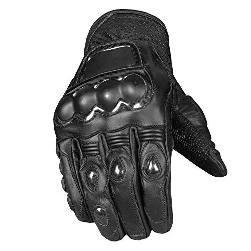Men Protective Steel Premium Leather Motorcycle Cruiser Street Biker Gloves L