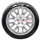 Tire Stickers - 'SRT' Logo for Dodge - Tire Lettering Add-On Accessory - DIY, Easy with Free 2oz Bottle Touch-up Cleaner - (14''-16''/1.25'' - 4 DECALS)