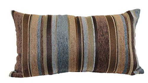 - Brentwood Originals 2073 Carnival Stripe Toss Pillow, 14 by 24-Inch, Horizon