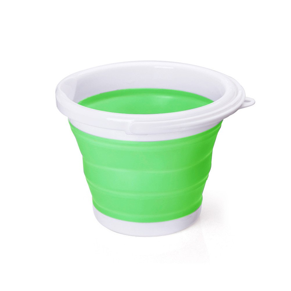 Outdoor Portable Collapsible Water Bucket Round for Fishing, Camping, Car Washing, Home Storage,Travel