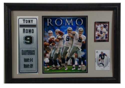 Encore Select 185-89 NFL Dallas Cowboys Tony Romo 2-Card Frame, with Photo and Card, 12-Inch by 18-Inch