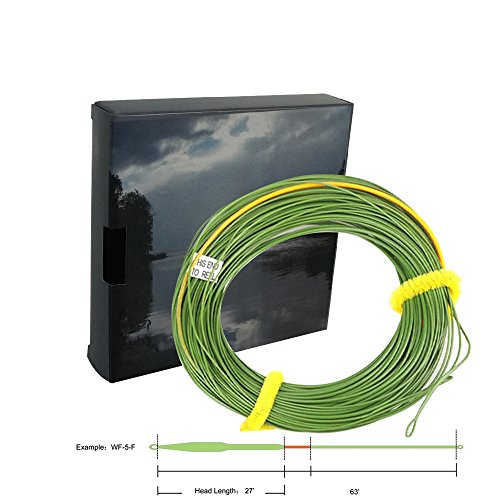 - Aventik Big Flies Line I Shorter Head Out Bound Fly Lines Ultra Low Stretch Core Moss Green Color With Yellow Loading Zoom, Welded Loops, Line ID WF5, 6, 7, 8 Floating 90 ft (WF5F)