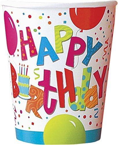 Amazon.com: Jamboree Cumpleaños, 8 ct, Multicolor: Kitchen ...