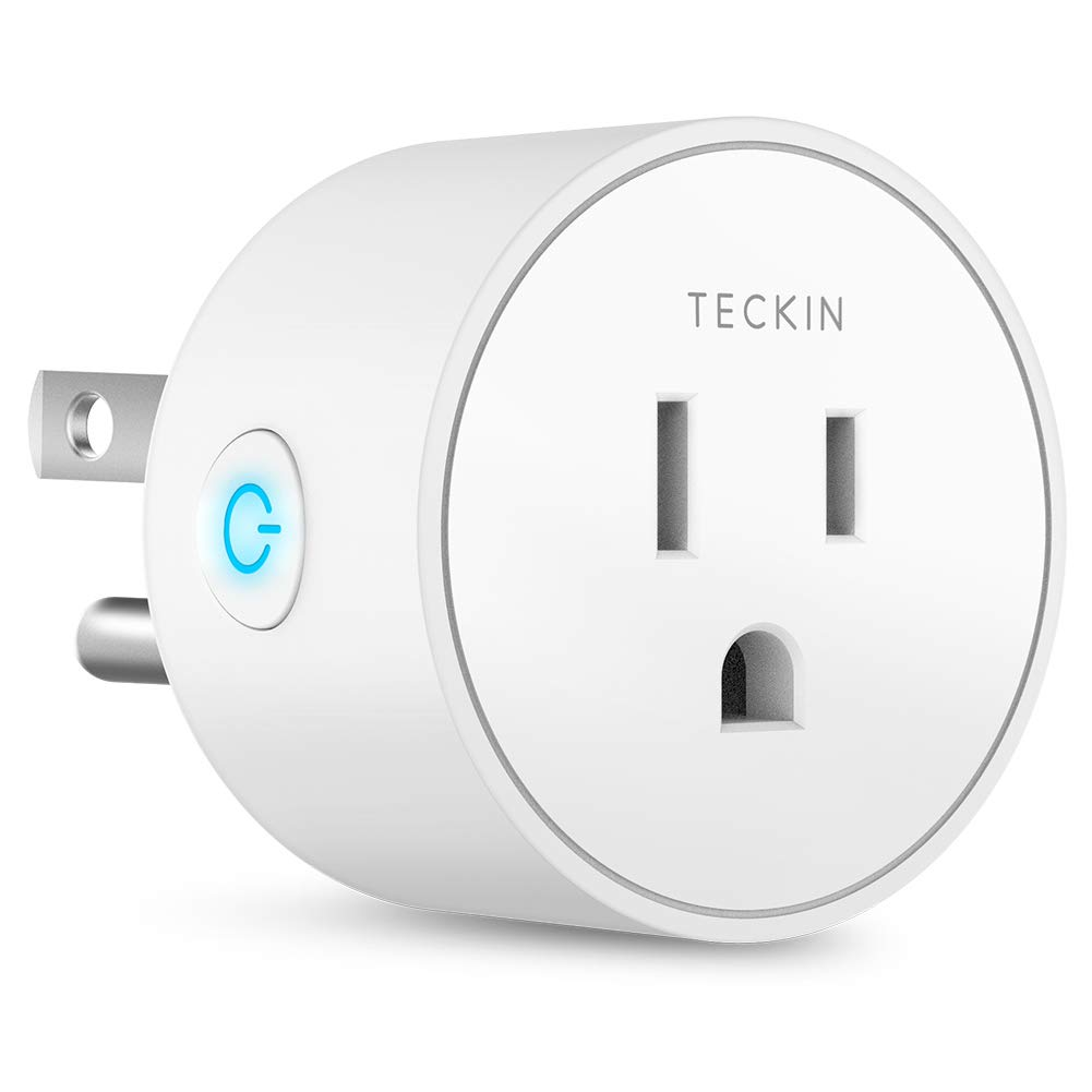 Smart Plug Mini Outlet Compatible with Amazon Alexa and Google Assistant, TECKIN Wifi Enabled Remote Control Smart Socket with Timer Function, No Hub Required,White, 1 pack