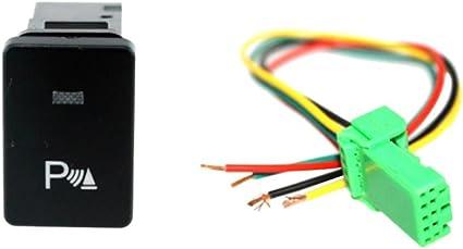Shiwaki Interruptor De Botón Pulsador De 4 Polos LED Azul para ...