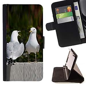 For Sony Xperia Z3 Compact / Z3 Mini (Not Z3) Case , Divertido Naturaleza pájaros del amor- la tarjeta de Crédito Slots PU Funda de cuero Monedero caso cubierta de piel