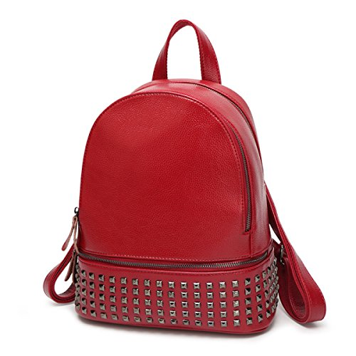 Bag Rivets Winered Messenger Bag Ms HYqSwPq